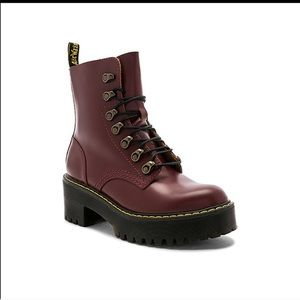Dr. Martens Leona Combat Boot in Oxblood size 9